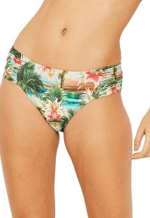 Cueca brasileira c/ laterais largas, tropical vintage - BOTTOM PRADO ISLA