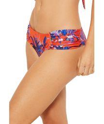 Larger side orange bikini bottom with blue flowers - BOTTOM PRADO NOTURNELLA
