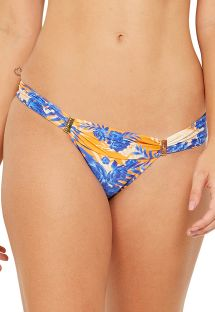 Accessorized bikini bottom in floral vintage print - BOTTOM PRADO SOLAR
