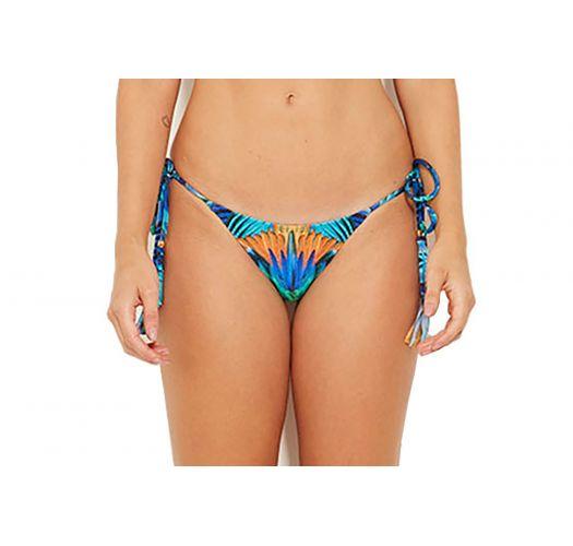 Bunte Bikinihose mit Seitenschnüren, Pompons - BOTTOM ROCK ARARUNA