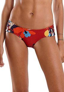 Red strappy Brazilian bikini bottom in floral print - BOTTOM SUM HAVANA