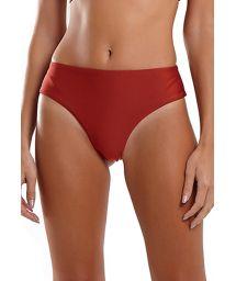 Red wide sides high-leg Brazilian bikini bottom - BOTTOM SUM LASER VERMELHO