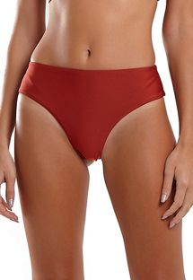 Red wide sides high-leg Brazilian bikini bottom - BOTTOM SUM LASER VERMELHO