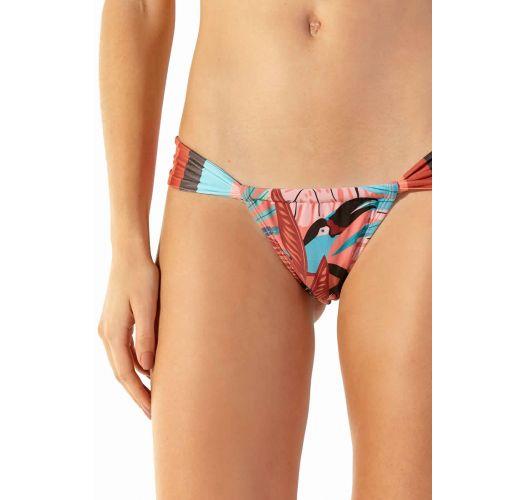 Tropical pink sliding bikini bottom - BOTTOM SUPER PALMAR