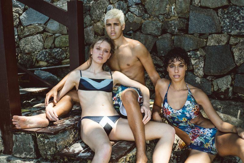 Tri-color jeans Brazilian bikini bottom - BOTTOM VENUS JEANS