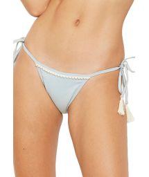 Light grey side-tie bikini bottom - BOTTOM WAVE JEANS COLLAGE