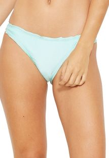 Fixed light green scrunch bikini bottom - BOTTOM WAVE VERDE FRAIS