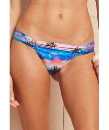 Tropical swimsuit tanga with pleated waistband - CALCINHA ALISHA