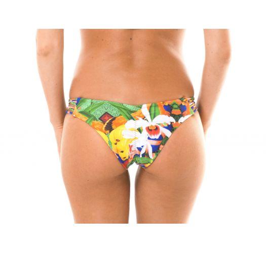 Braguita de bikini estampado tipo scrunch con tiras - CALCINHA EXUBERANTE BOSSA
