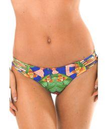 Printed strappy scrunch bikini bottom - CALCINHA EXUBERANTE BOSSA