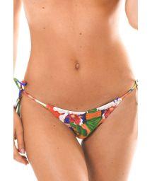 Brazilian string bikini bottom, brightly-coloured print - CALCINHA EXUBERANTE LACINHO