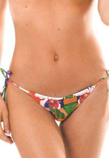 Braguita de bikini brasileño con tiras y estampado de varios colores - CALCINHA EXUBERANTE LACINHO