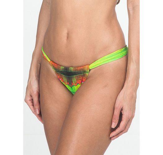 Sliding tie and dye tanga swimsuit bottom - CALCINHA LIGHT LARANJA