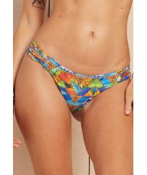 Printed multi-strap scrunch Brazilian bikini bottoms - CALCINHA LOUGE