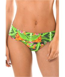 Tropical print wide side Brazilian bikini bottom - CALCINHA TAPAJO BAHAMAS