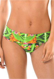 Tropical print wide side Brazilian bikini bottom - CALCINHA TAPAJO BAHAMAS
