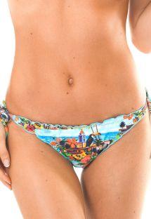 Bedrukt Braziliaans broekje, golvende randen - CALCINHA TRANCOSO MEL