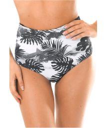 High-waisted retro-style tropical swimsuit bottom - CALCINHA VISUAL GIRLS