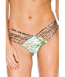 Multi-strap leopard print Brazilian scrunch bottom - CALCINHA GUANTANAMERA