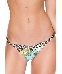 Fixed bikini tanga reversible leopard print - CALCINHA GUANTANAMERA REVERSIBLE