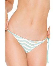 Scrunch bikini bottoms, bi-fabric, pale green - CALCINHA MALECON GREEN