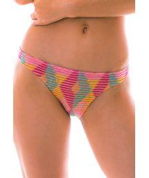 Multicolored crochet bikini bottom - BOTTOM DALVA COLORIDO