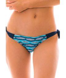 Side-tie blue & black crochet bikini bottom - BOTTOM DIONE AZUL
