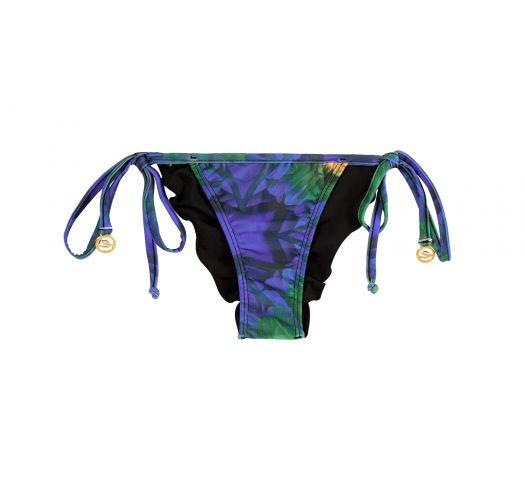 Scrunch bikinitrusser med tropisk mønster - CALCINHA ARARA BRASIL