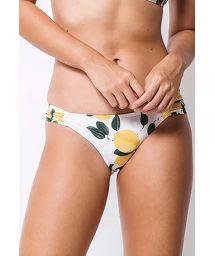 Weißgrundige Bikinihose mit Zitronenmotiv - BOTTOM MEIA TAÇA LIMOEIRO