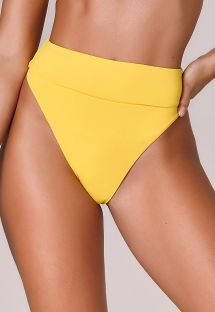 Yellow high-waisted high-leg bikini bottom - BOTTOM BIQUINI OFF SHOULDER AMARELO