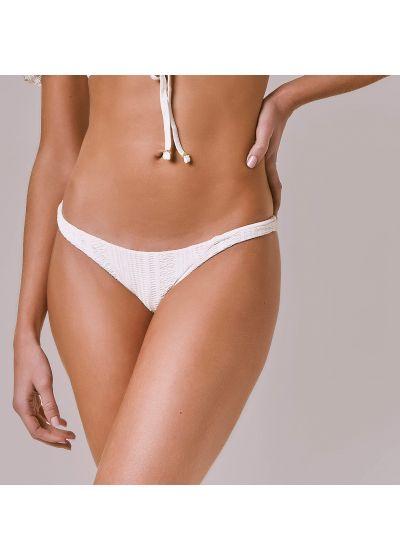 Fixed bikini bottom in ecru lace - BOTTOM CAPRI OFF WHITE RENDA