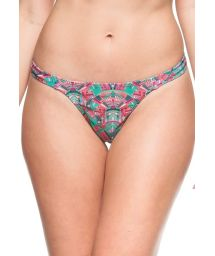 Pink and green string bikini bottom - BOTTOM AGUA CALMAS