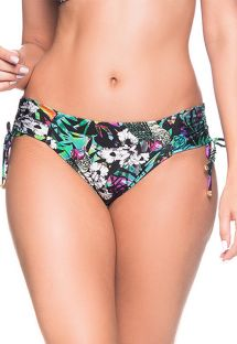 Colorful floral side-tie bikini bottom - BOTTOM ALÇA ATALAIA