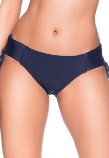 Navy blue side-tie bikini bottom - BOTTOM ALÇA MIRAMAR