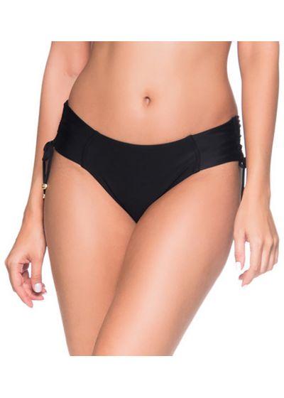 Black side-tie bikini bottom - BOTTOM ALÇA PRETO LP