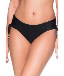 Black side-tie bikini bottom - BOTTOM ALÇA PRETO LP