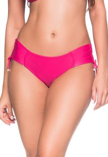 Side-tied pink bikini bottom - BOTTOM ALÇA TROPICALIA