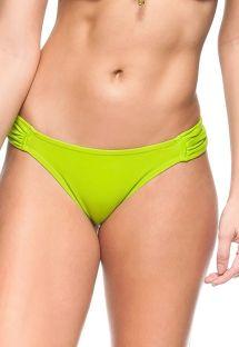 Lime green pleated fixed bikini bottom - BOTTOM ALEXANDER