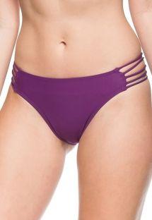 Plum multi-strap Brazilian bikini bottom - BOTTOM ARQUIPELAGO