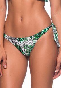 Foliage green Brazilian bikini bottom - BOTTOM BABADINHO VIUVINHA