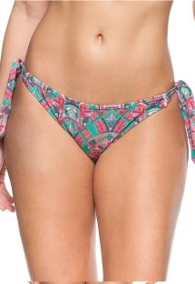 Pink and green side-tie bikini bottom - BOTTOM BARBADOS