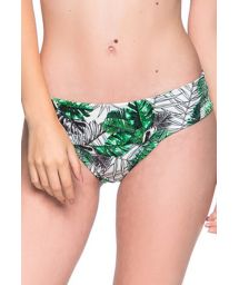 Green leaves larger side bikini bottom - BOTTOM BASE VIUVINHA