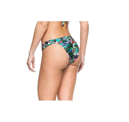 Fixed bikini bottom - colorful Cuba print - BOTTOM BETTA CUBA