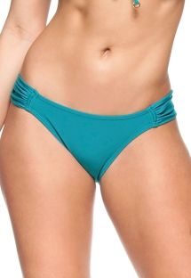 Turquoise blue pleated fixed bikini bottom - BOTTOM BLUE SKY
