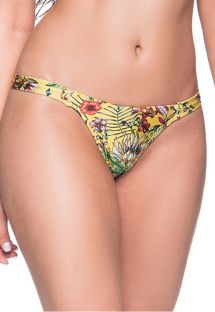 Yellow floral fixed string bikini bottom - BOTTOM BOJO DREAM AMARELA
