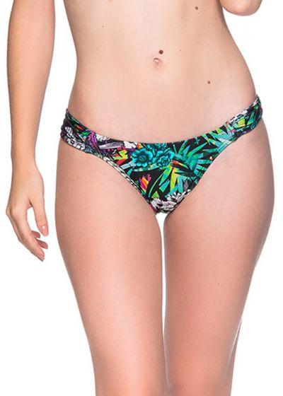 Buntgeblümte ausgeschnittene Bikinihose - BOTTOM BOLHA ATALAIA