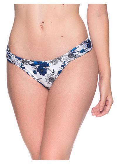 Blue & white floral bikini bottom - BOTTOM BOLHA ATOBA