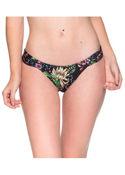 Black floral bikini bottom - BOTTOM BOLHA DREAM