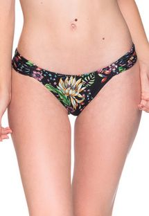 Black floral bikini bottom - BOTTOM BOLHA DREAM