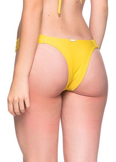 Gelbe ausgeschnittene Bikinihose - BOTTOM BOLHA PAELLA
